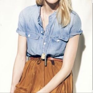 Madewell perfect Sunday chambray linen shirt